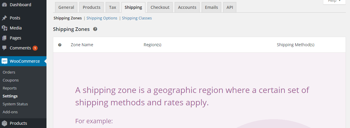 WooCommerce Shipping: Shipping Zones