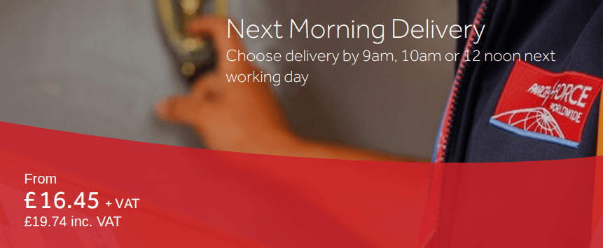Parcelforce: Next Morning Delivery