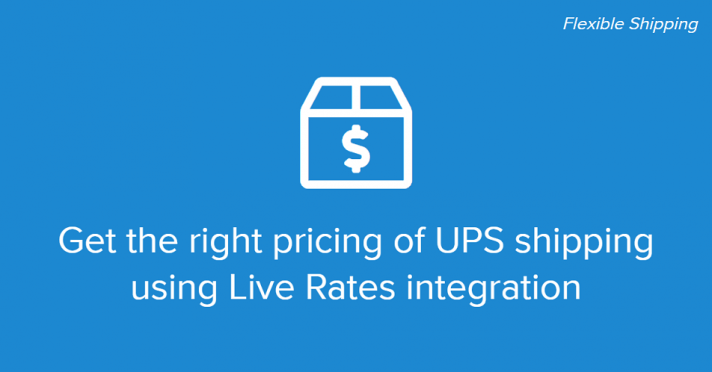 Get the right pricing of UPS shipping using LIve Rates integration