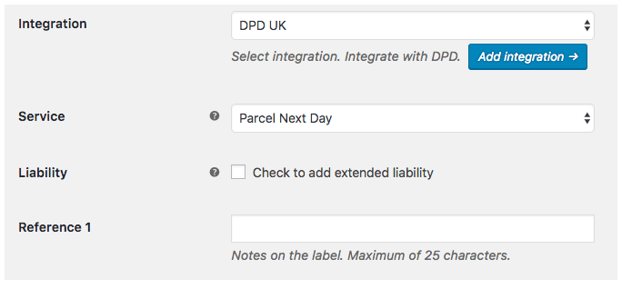 WooCommerce DPD UK - shipping services