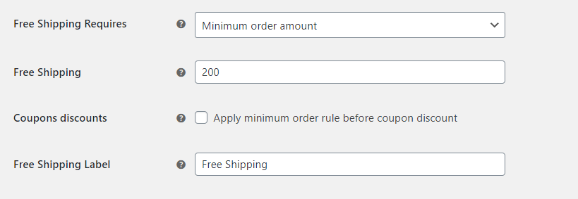 Free shipping label for free shipping over amount