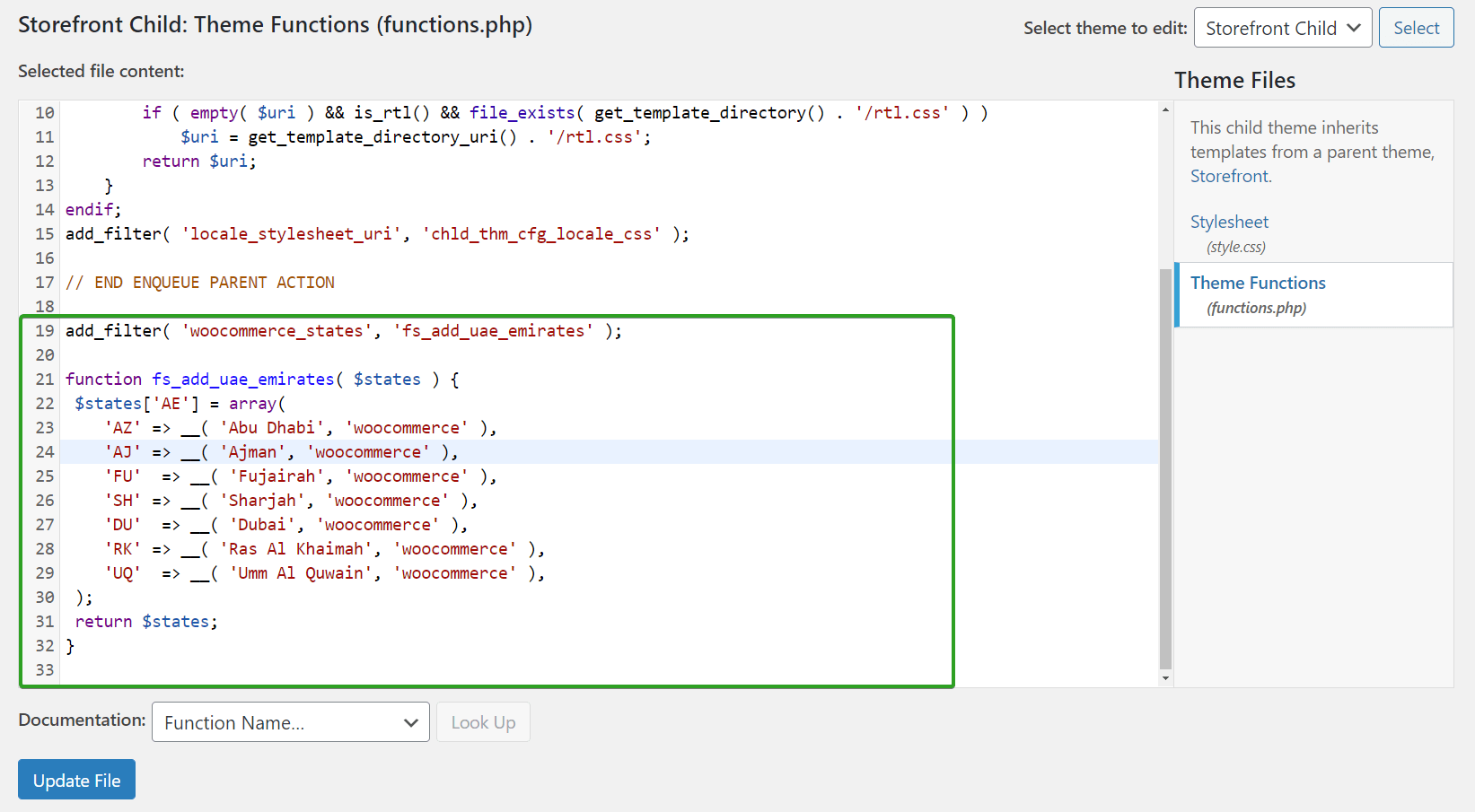 Add Custom Code to functions.php in WordPress