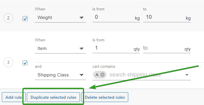 Duplication of rules